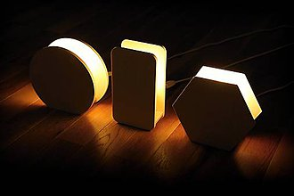 Svietidlá a sviečky - Nočná lampa (rôzne tvary) + LED žiarovka - 7390518_