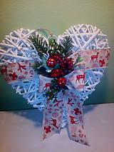 Dekorácie - Vianočné srdce veľké - 7389374_