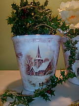 Nádoby - Kvetináč V zime - 7390812_