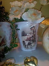 Nádoby - Kvetináč V zime - 7390814_