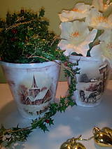 Nádoby - Kvetináč V zime - 7390818_