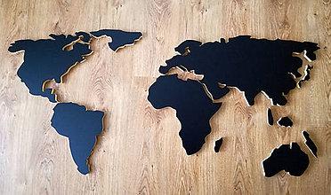 Dekorácie - 3D mapa sveta na stenu 60x120cm - 7391427_