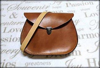 Kabelky - Ručne šitá kožená kabelka/ aktovka crossbody hnedá ,,Chestnut \