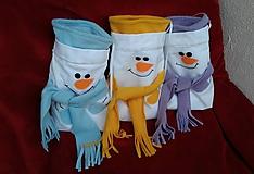 Úžitkový textil - Mikulášske vrecúško-snehuliak - 7391885_