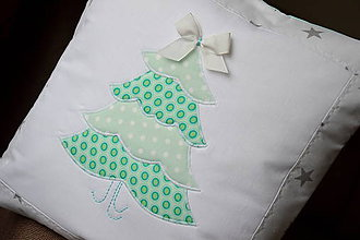 Úžitkový textil - Vankúš stromček - 7388467_