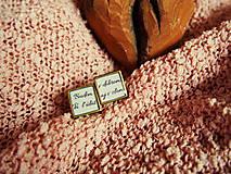 """Šperky - Manžetky na svadbu """"Budem Ťa ľúbiť v dobrom aj v zlom"""" - 7389150_"""