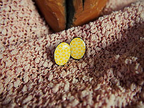 Náušnice - Retro-žlté oválne náušničky - 7389192_