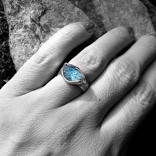 Prsteň- Morris- akvamarín