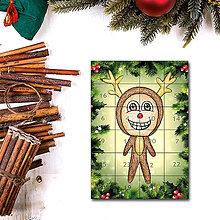 Dekorácie - Adventný kalendár skladačka (ihličie (sobík)) - 7387478_