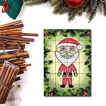 Dekorácie - Adventný kalendár skladačka (ihličie (Santa)) - 7387649_