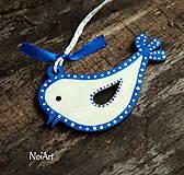 Vianočná dekorácia vtáčik folk