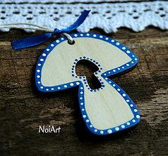 Dekorácie - Vianočná dekorácia hríbik folk - 7395562_