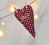 Dekorácie - Vianočné ozdoby - srdiečko - 7393265_