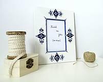 Rámiky - Drevený rámček maľovaný - 7395000_