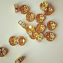 Korálky - KKO6511, Rondelka 6mm Zlatá /1ks - 7396800_