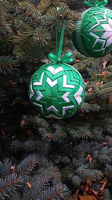 Dekorácie - vianočné gule (sada 4 gúľ) - 7392308_