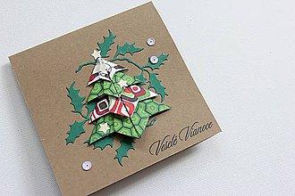 Papiernictvo - Vianočná pohľadnica - 7396276_