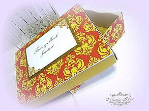"""Krabičky - Darčeková krabica """"Autumn damask"""" - 7394660_"""