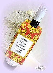 Papiernictvo - Visačky na svadobné fľaše