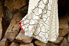 Textil - Minky deka celoročná 100×75cm ivory & cracked earth - 7396314_