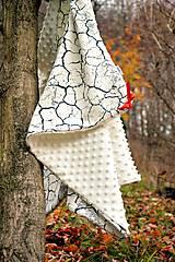 Textil - Minky deka celoročná 100×75cm ivory & cracked earth - 7396316_