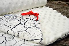 Textil - Minky deka celoročná 100×75cm ivory & cracked earth - 7396317_