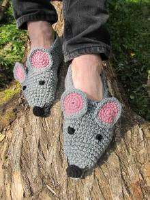 Obuv - Pánske myškové papuče - 6657438_