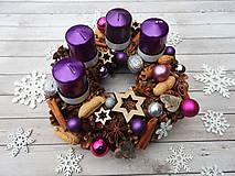 - Adventný venček fialová kráska - 7393136_