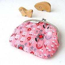 Peňaženky - Peňaženka Jemná ružová kvietkovaná - 7392789_