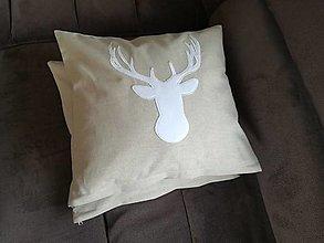 Úžitkový textil - Režné s jelenčekom - 7393303_