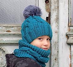 Detské čiapky - osmičkovy setik... - 7400292_