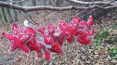 Dekorácie - Vianočné ozdoby - sada červená 9 kusov - 7397583_