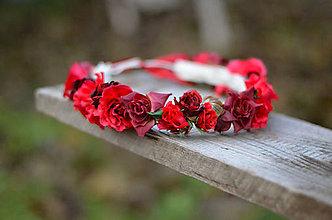 Ozdoby do vlasov - Rudé růže - 7400566_