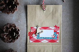 Papiernictvo - Darčekové vrecúško - vianočné - 7401840_