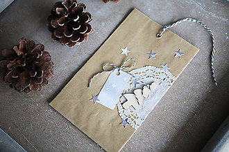 Papiernictvo - Darčekové vrecúško - vianočné - 7401858_