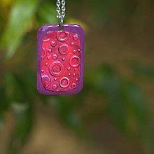Náhrdelníky - Prívesok Ružová perleť - 7400465_
