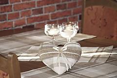 Dekorácie - Srdce z ľanu - 7397722_