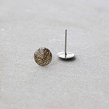 Náušnice - Trblietavé napichovačky - nerezová oceľ (8 mm) - 7401465_
