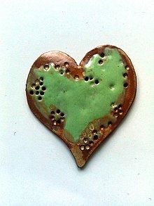 Odznaky/Brošne - Tara šperky/keramika-srdiečko - 7402182_