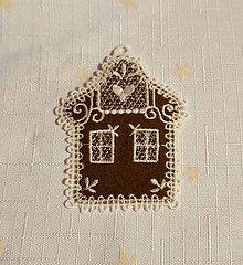 Dekorácie - Vianočná ozdoba domček č. 53 - 7402156_