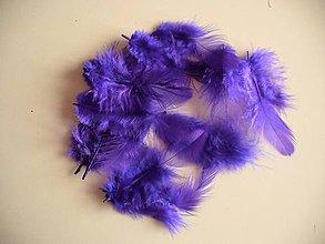 Iný materiál - marabu modro-fialové - 7399347_
