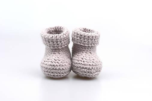 Topánočky - Béžové papučky zimné FINE - 7400646_