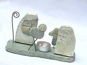 Svietidlá a sviečky - svietnik Betlehem dlhý - 7400165_