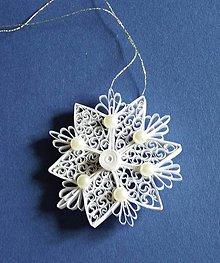 Dekorácie - Vianočná hviezdička - ozdoba - 7401538_