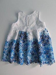 Detské oblečenie - Detské krajkové šaty s čelenkou - 7402251_