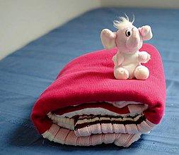 Textil - Cyklámenová dečka - 7402150_