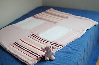 Textil - Ružová dečka - 7402164_