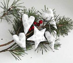 Dekorácie - Strieborné vianoce-sada - 7403484_