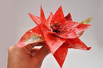 Drobnosti - Vianočná ruža z jedlého papiera - 7403510_