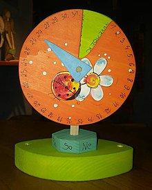 Hračky - Kalendár č. 2 oranžový - 7405093_
